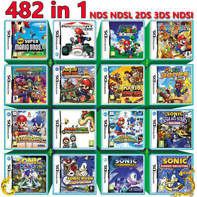 482 IN 1 Games card Cartridge Multicart For Nintendo DS NDS NDSL NDSi 2DS 3DS