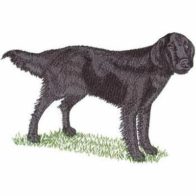 """Flat-Coated Retriever Dog, Embroidered Patch 8.5"""" x 5"""""""