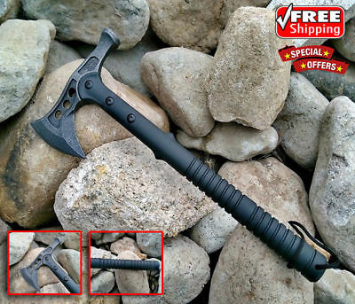FREE SHIPPING Carbon Steel Hammer Wrench Axe Fire Ice Army Tactical Tomahawk
