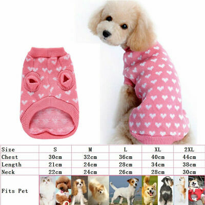 Dog Pet Cat Warm Jumper Sweater Clothes Knitwear Costume Coat Apparel S-XXL Gift