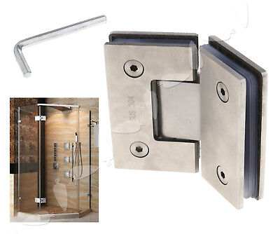 Glass Hinges 135º For Cabinet Inset Shower Door Polished Chrome Plated Bracket
