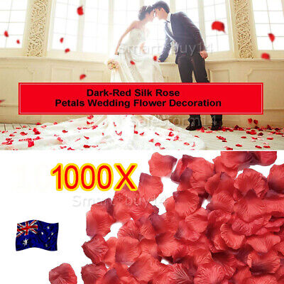 1000pcs Wine Red Silk Petals Flowers Rose Wedding Scatters Decoration Flower K