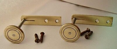NOS Pairs of Brass Stabilisers for Antique Wall Clocks