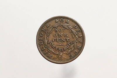 1837 Hard Times Token, Millions For Defence Not One Cent For Tribute A99 #Z3753
