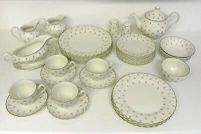 Laura Ashley Thistle By Johnson Brothers China Tea / Dinner  36 Pieces Plate Jug