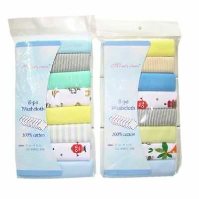 8Pcs Pack 100% Cotton Newborn Baby Towels Saliva Towel Nursing Towel Baby Boys