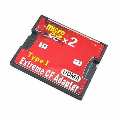 Dual Slot Micro SD to CF Card Adapter to Compact Flash CF Type 1 Converter