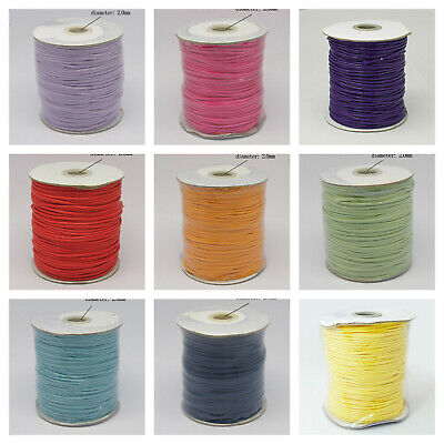 Korean Waxed Polyester Cord Jewellery Making Choose Color 2mm Dia(YC-N003)