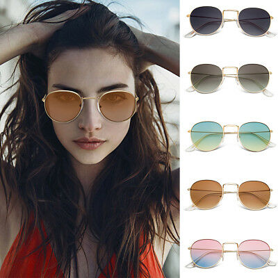 f8e82fe6c62 New Fashion Round Sunglasses Vintage Retro Oversized Mirror Glasses Men  Women