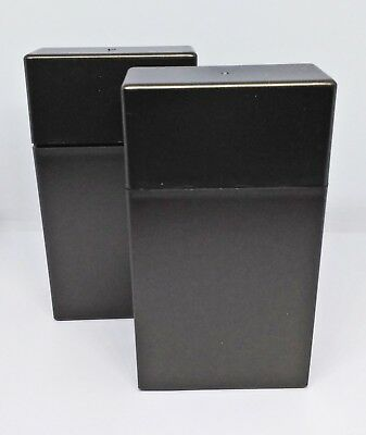 KSI Bronze Flip Top Open Plastic 100s Size Plastic Cigarette Case - Lot Of 2