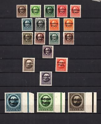 Germany  Bayern -  Complete Set Of Old Imperforated Stamps Mnh Lot ( Bay 11)