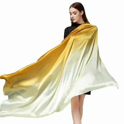 Extra Large Satin Scarf Square Silk Scarves for Women Fashion Women Silk Wrap