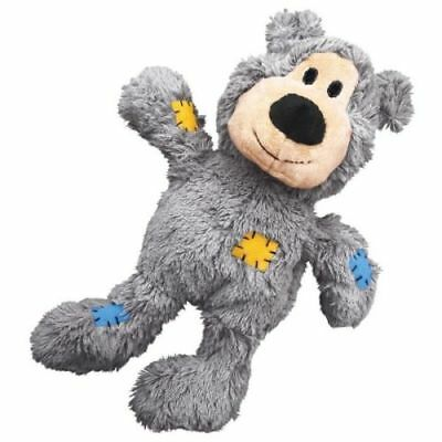 KONG Wild Knots Bear Dog Puppy (Strong Knotted Rope) Squeaky Plush Toy or Treats