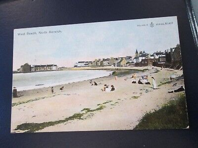 Postcard of West Beach, North Beswick (posted 1907 Reliable Series)