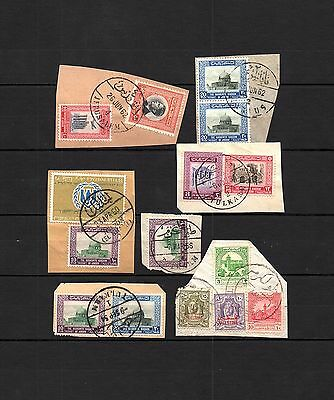 Jordanie - Used in Palestine- TULKARM - ALKHALIL - NABLUS CANCEL- LOT (JOR103)