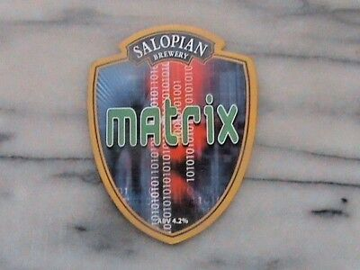 Salopian Matrix real ale beer pump clip sign
