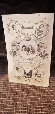 Family Post Card WEDDING OF CROWN PRINCE WILHELM TO DUCHESS CECILIE OF...