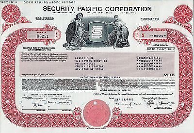 Security Pacific Corporation, 1989, Floating Rate Ext. Note due 1993 (100.000 $)