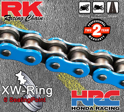RK Blue  XW-Ring  Drive Chain 530 P - 112 L for Honda Motorcycles