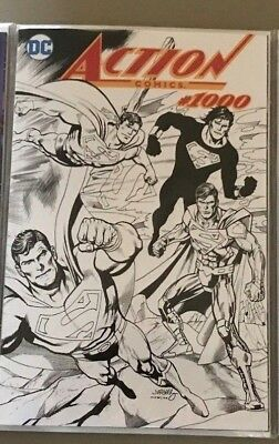 ACTION COMICS #1000 DYNAMIC FORCES DAN JURGENS BLACK AND WHITE VARIANT Superman