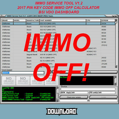 Immo Service Tool V1.2 2017 Pin Key Code Immo Off Calculator Bsi Vdo Dashboard