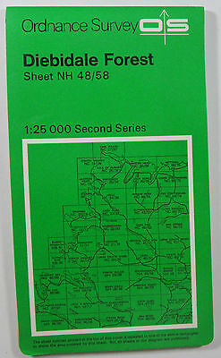 1973 old OS Ordnance Survey Second Series 1:25000 Map Diebidale Forest NH 48/58