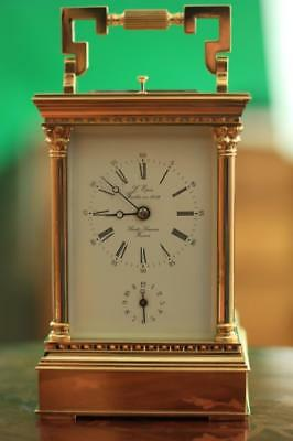 French Antique L'epee 1939 Faleta Grande Striking Repeater Alarm Carriage Clock