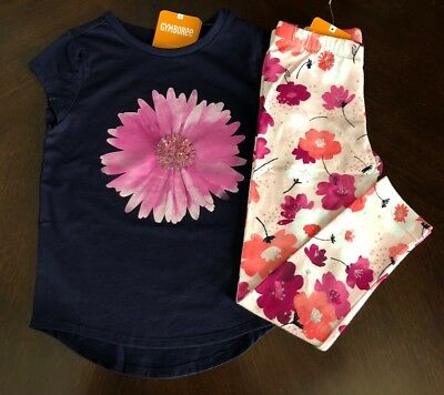NWT Gymboree Girl Bright Days Ahead Daisy Tee & Leggings Outfit  7 8 10 12 14