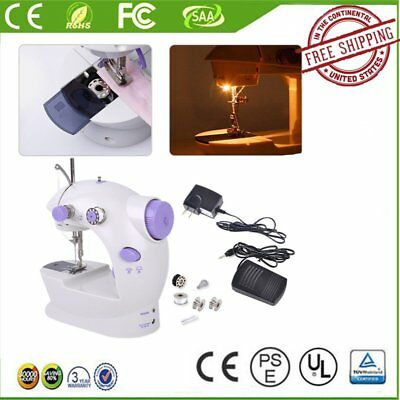 Portable Desktop Mini Electric Sewing Machine Hand Held Household Home Tailor RX