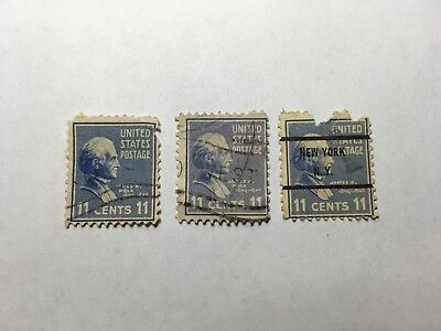 Lot Of Three Used Us Stamps Sc816 11 Cent James Polk 1938