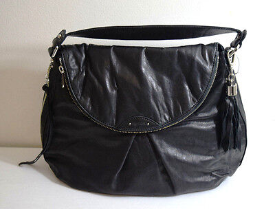 """BURBERRY """"HOXTON"""" BLACK Quilted Leather Large Hobo Shoulder Handbag ... e1e08363cee67"""
