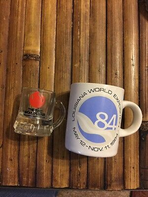 Worlds Fair Souvenirs Louisiana 1984 Small Cup And 1982 Miniature Mug