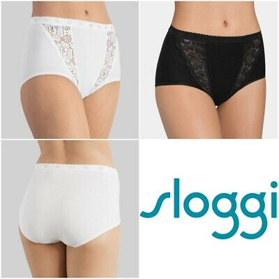 Sloggi Chic Maxi Brief Knickers Pants 4 Pack 85% Cotton - 10071632 RRP £48.00