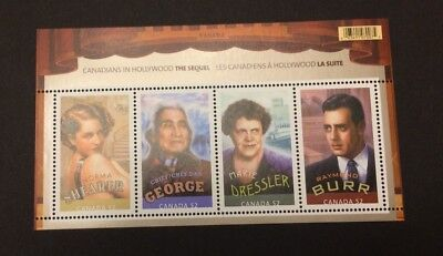 CANADA #2279 Canadians in Hollywood (souvenir sheet of 4) - MNH