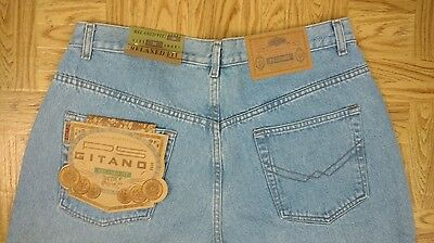 NWT Vintage GITANO MOM Jeans Size 18P Blue Relaxed Fit 5 Pocket Straight Leg NEW