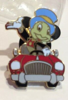 Disney Pin New In Package Lapel Pin Jiminy Cricket Red Convertible Car Waving