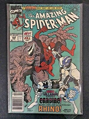 The Amazing Spider-Man #344 MARVEL Comic 1st Cletus Cassidy Carnage - Near Mint