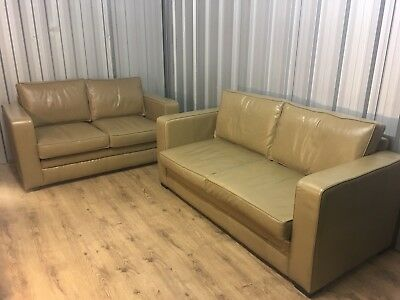 Leather Sofas From The English Sofa Company Very Good Quality Delivery Poss