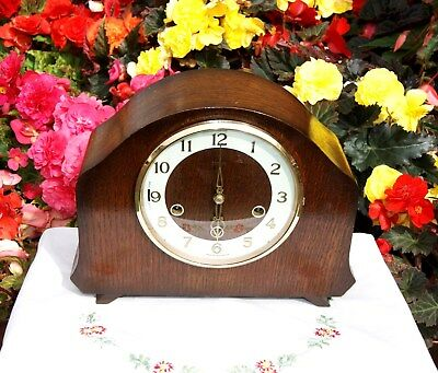 Smiths Antique Art Deco Westminster Chime Mantel Clock, Rare & Outstanding!