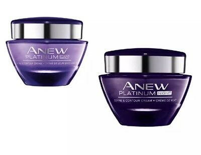 Avon Anew PLATINUM Set of 2 DAY and NIGHT Cream NEW and Sealed 50ml each