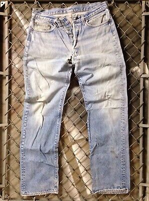 Vintage 70s levis 501XX Red Tab Faded Holes Kurt Contain Whisker Wash USA Grunge