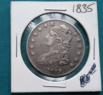 1835 Silver Capped Bust Half Dollar  #846