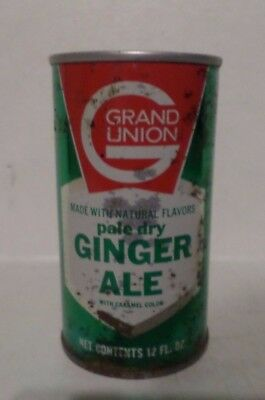 Vintage Grand Union Pale Dry Ginger Ale Straight Steel Soda Pop Can
