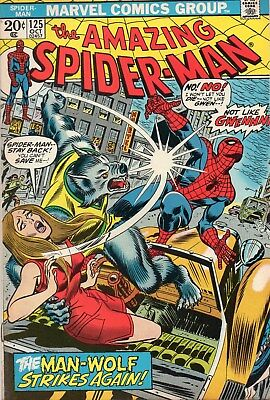 Amazing Spider-Man(1963 1St Series) #125. Man - Wolf Appearance