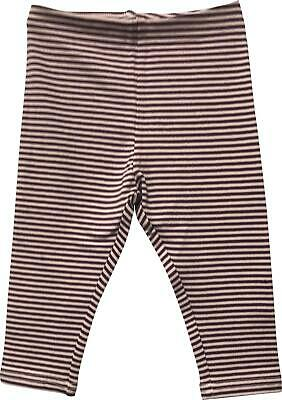 Girls Next Pink & Purple Striped Legging Trousers Size 9-12 Months