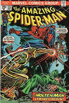 Amazing Spider-Man(1963 1St Series) #132.molten Man Appearance