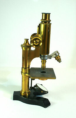 Antikes Messing Mikroskop Hartnack - antique brass microscope Hartnack