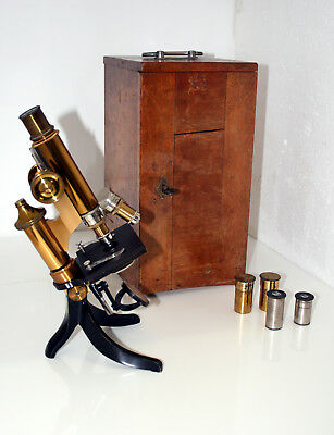 Schönes antikes Leitz Messing Mikroskop - antique Leitz brass microscope