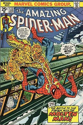 Amazing Spider-Man(1963 1St Series) #133. Molten Man Appearance