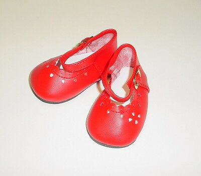 Doll Shoes 47mm NAVY BLUE Heart Cut for Bitty Bethany